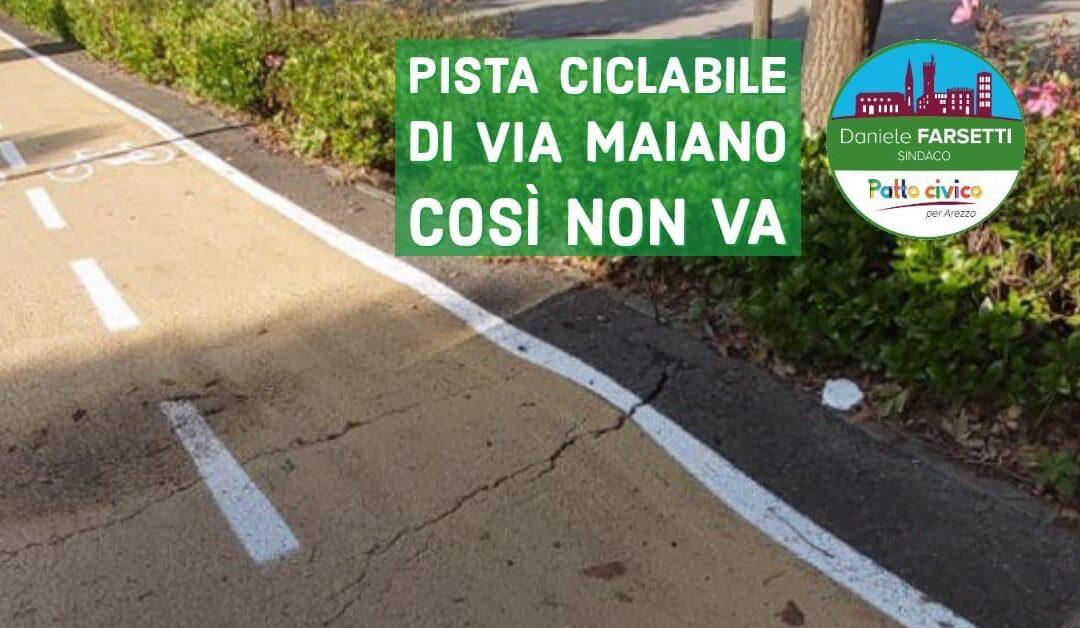 La nuova pista ciclabile di via da Maiano esempio di sciattezza amministrativa.
